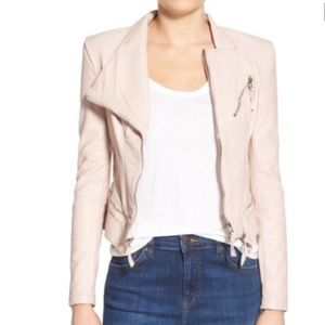 BLANKNYC Denim Blush Faux Leather Jacket!